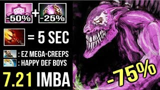 MEGACREEPS -75% CD ALL Skills Dazzle 5s Dagon Crazy Try Hard Comeback Gameplay by Sccc 7.21 Dota 2