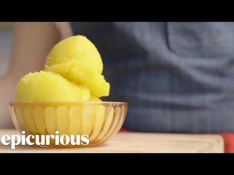 Video Make Mango Sorbet at Home Right Now | Epicurious