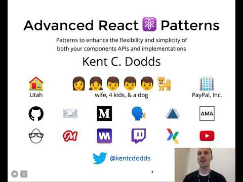 Advanced React Component Patterns workshop @ PayPal (Part 1)