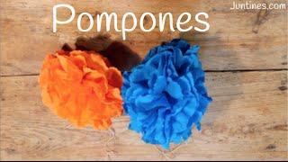 Cómo hacer un POMPÓN de papel crepé | Manualidades para decorar una FIESTA