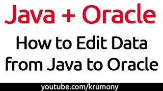 How to Update Data from java to Oracle Database Working 100% - krumony