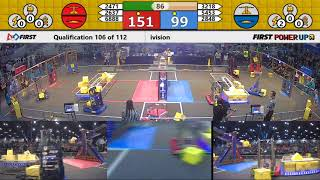 Qual 106 - 2018 FIRST Championship - Houston - Turing Subdivision