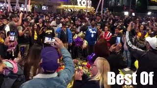 Emotional scenes outside Staples Center as fans mourn the death of Kobe Bryant