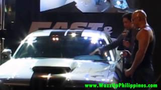 fast & furious 6 movie red carpet philippine premiere Dodge Challenger Signed by Cast