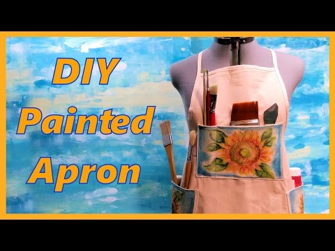 DIY Painted Apron with Inktense Pencils