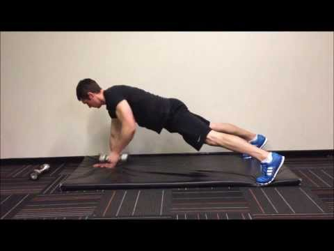 Dumbbell Renegade Rows - single arm