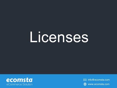 Licenses - eCommerce Script