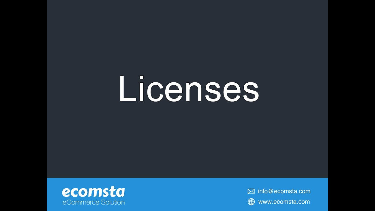 How to sell software licenses in eComsta?