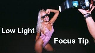 How to FOCUS in LOW LIGHT - Best Tip