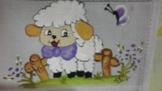 Pintura da ovelhinha passo a passo.