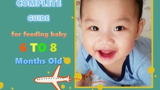 The complete guide for feeding baby  6 to 8 months old