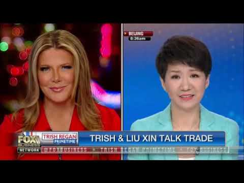 Fox's Trish Regan debate the trade war with Liu Xin