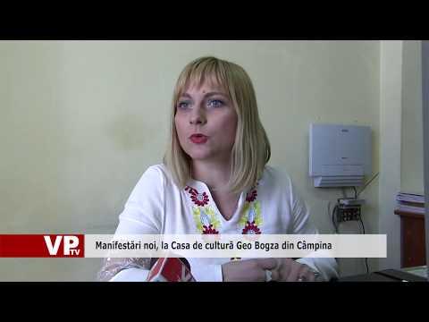 Manifestări noi, la Casa de cultură Geo Bogza din Câmpina