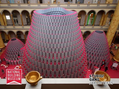 "Timelapse Exhibition ""Hive"", National Building Museum Washington"