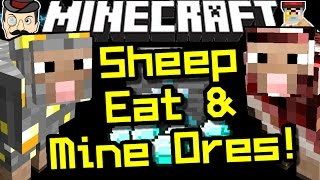 Minecraft ORE SHEEP! Mining Sheep That Eat Ores!