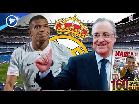Le Real Madrid dégaine une offre de 160 M€ pour Kylian Mbappé   Revue de presse
