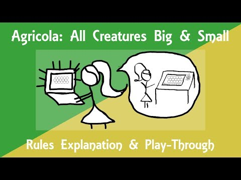 Agricola All Creatures Big and Small Rules Explanation & Play-Through