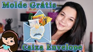 Caixa Envelope Dia Dos Pais | Mólde Grátis #Lilatelie