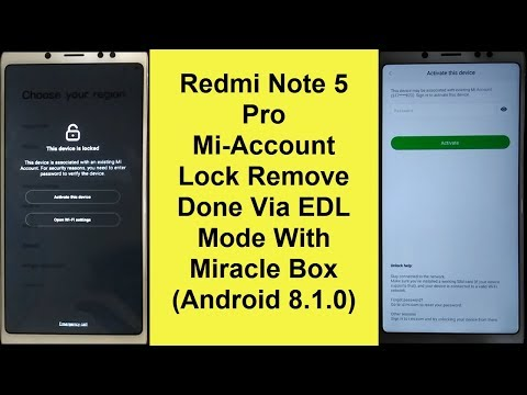 Redmi Note 5 (MEI7) FRP MI Account Lock Remove Done With Miracle Box