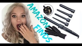 Amazon finds : 5 in 1 Tourmaline Ceramic Hair Waves Curling Wand - REVIEW