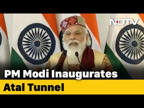 PM Modi Inaugurates Strategically Important Atal Tunnel At Rohtang In Himachal