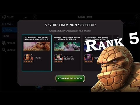 5-Star Champ Selector - Thing Rank Up | Marvel Contest of Champions