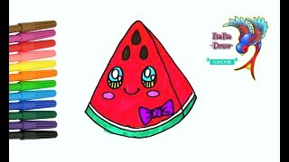 How To Draw A Watermelon Slice म फ त ऑनल इन