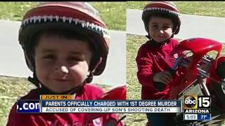 Parents officially charged with first-degree murder after child