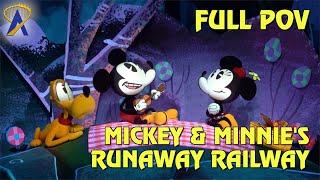 FULL POV - Mickey & Minnies Runaway Railway At Disneys Hollywood Studios