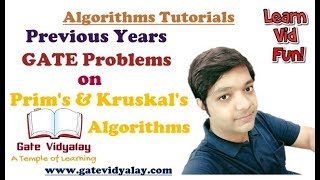 Previous Years GATE Problems on Prim's and Kruskal's Algorithms | Important