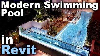 Modern Swimming Pool in Revit Tutorial