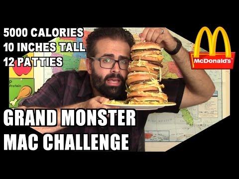 McDonalds Monster Grand Mac Challenge *5000 Calories, 10 Inches*   Freak Eating