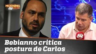 Bebianno critica postura de Carlos Bolsonaro