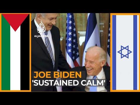 US President Joe Biden, working toward a 'sustained calm' between Israel and Palestine | AJ #shorts