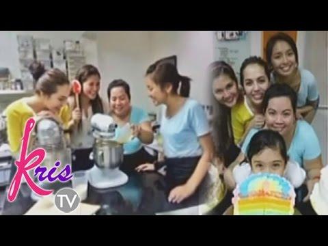 Julia and Kathryn go baking