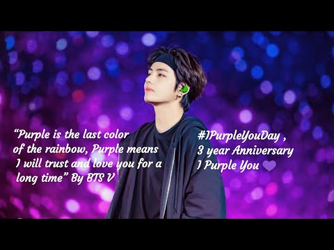 "BTS V ""I Purple you"" 3rd Year Anniversary 💜, Army Celebrate #IPurpleyouDay"