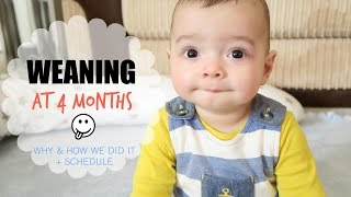 Weaning at 4 Months: Why and How We Did It + Schedule | Ysis Lorenna