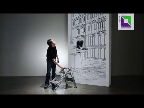 Günzburger Klapp Treppe, mit klappbarem Bügel 4 Stufen-youtube_img