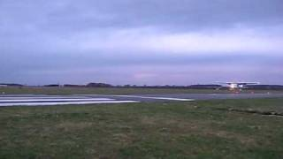 preview picture of video 'Final Approach on RWY 25 in EDVM with Cessna C 152 II'