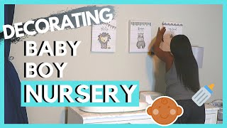Decorating the Nursery | Boy Nursery Reveal