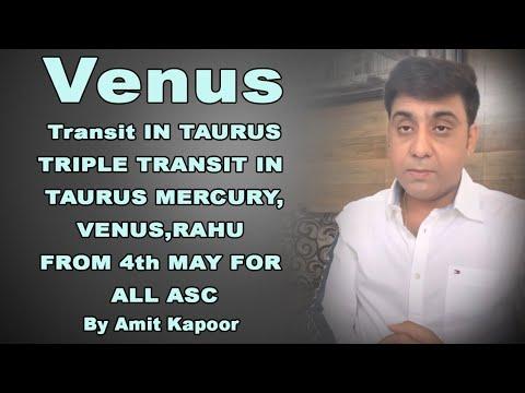Venus Transit IN TAURUS ♉️ | TRIPLE TRANSIT IN TAURUS MERCURY,VENUS,RAHU FROM 4th MAY FOR ALL ASC