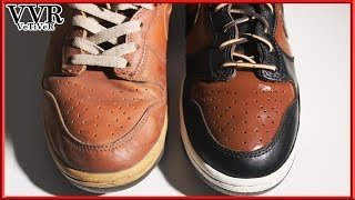 [ASMR] Clean & Custom 'NIKE' 'Dunk premium' 'leather version'  -4k