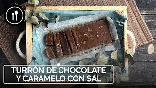 Cómo hacer TURRÓN casero de chocolate y caramelo con un toque de flor de sal | Instafood
