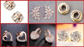 Top Designer Minimalist Diamond Earrings Designs For Womens And Girls