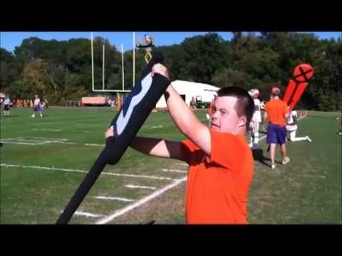 Watch video Down Syndrome: American Football team Cleamson University