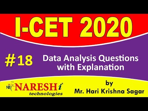 Data Analysis Questions with Explanation | ICET 2020 Exam ...