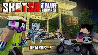 Bulan Vs Matahari! Sketsa tawa 4Brother Ft.Anited (Animasi Minecraft Indonesia)