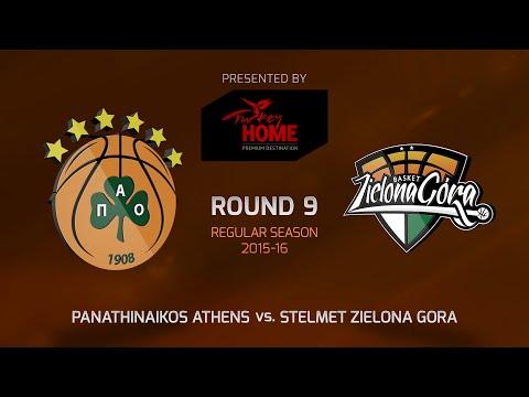 Highlights: RS Round 9, Panathinaikos Athens 82-51 Stelmet Zielona Gora
