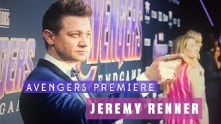 Avengers Endgame World Premiere - Behind The Scenes with Jeremy Renner