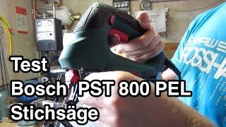 Test Bosch PST 800 PEL Stichsäge   Stichsäge Test   pendelhubstichsäge